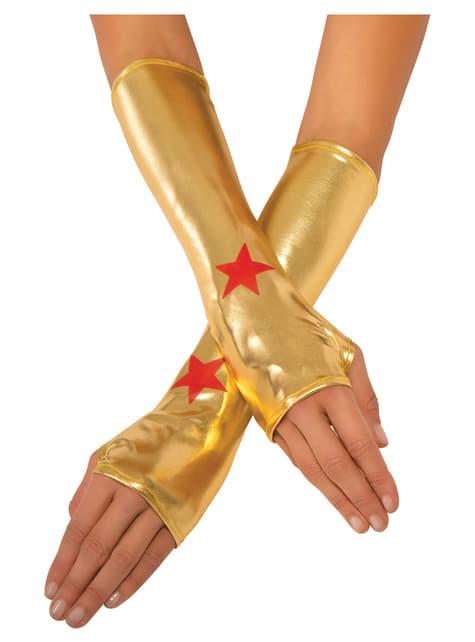 Luvas de Wonder Woman para mulher