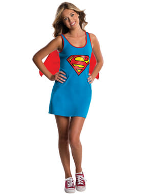 DC Comics Supergirl kjole kostume til teenagere