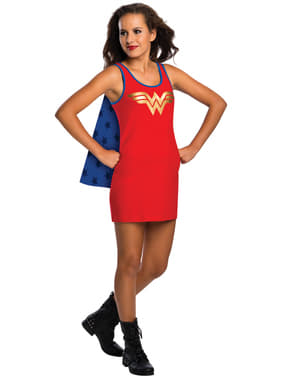 Момичетата на момичета Чудесна жена DC Комикс костюм рокля