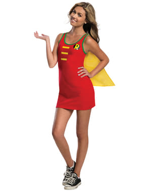 Robe Déguisement Robin DC Comics adolescente