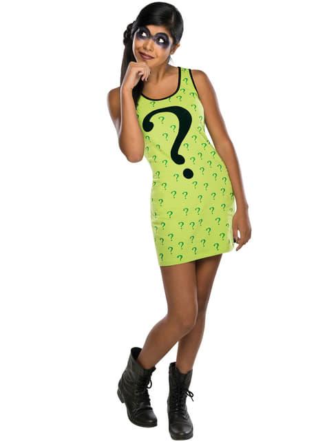 Vestido disfraz de Enigma DC Comics para adolescente