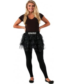 Teen girls Catwoman skirt with sequins
