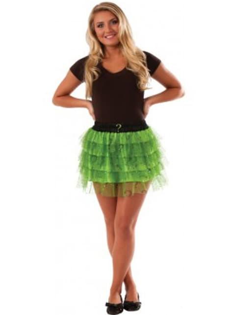 Teen girls Riddler skirt with sequins