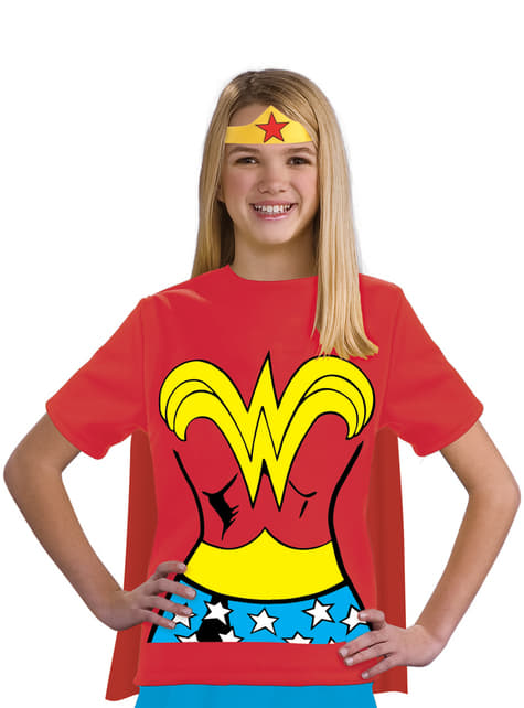 Kit fato de Wonder Woman DC Comics para menina