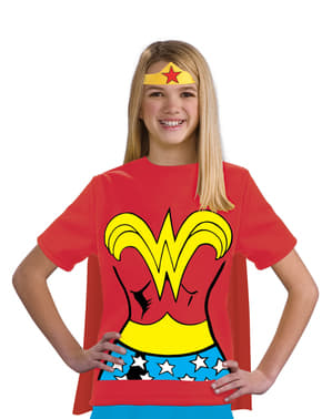 Wonder Woman DC Comics Kostyme Sett Jente