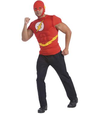 Mens muscular Flash DC Comics costume