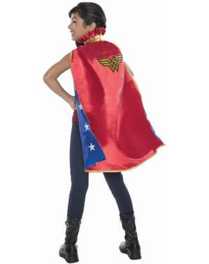 Capa de Wonder Woman DC Comics deluxe para menina