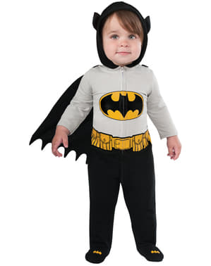 Kostium welurowy Batman DC Comics dla niemowlat