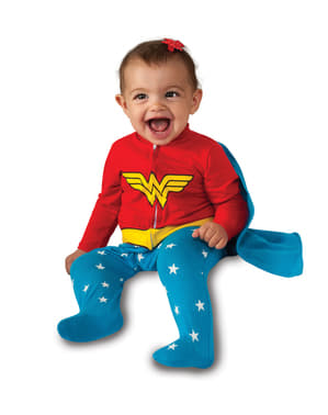 Costum Wonder Woman DC Comics pentru bebeluși