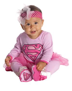 Rosa Supergirl Kostyme Baby