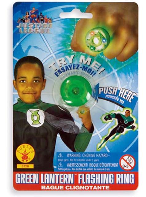 Anillo de Linterna Verde DC Comics para niño
