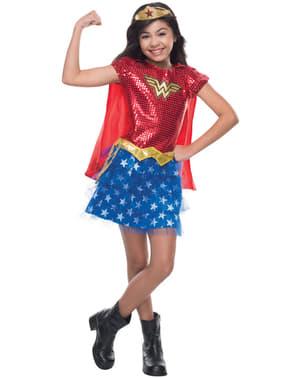 Fato de Wonder Woman DC Comics para menina