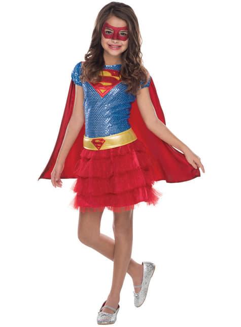 Fato de Supergirl justiceira DC Comics para menina