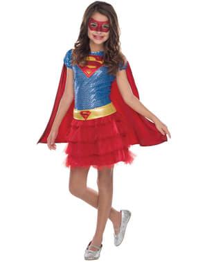 Costum Supergirl justițiară DC Comics pentru fată