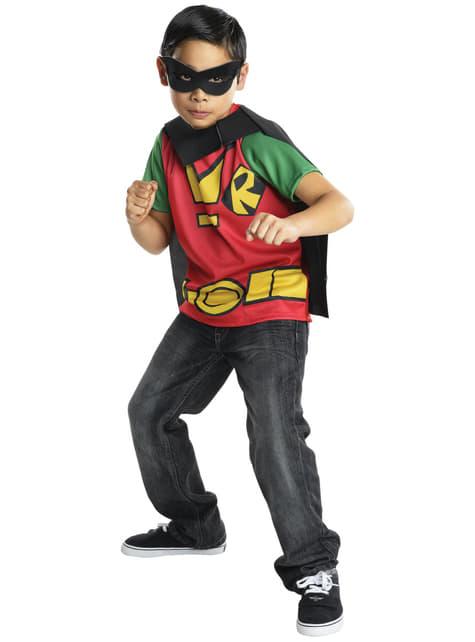 Childrens Robin Teen Titans Go costume kit