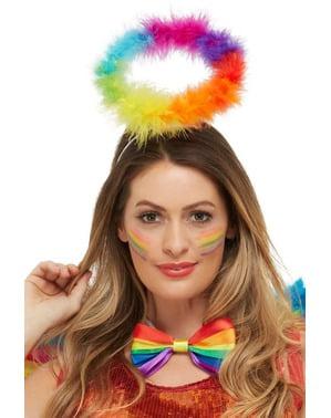 Kit da angelo arcobaleno per adulto