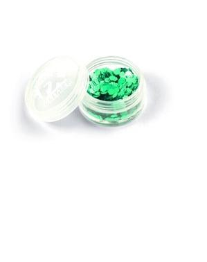 Maquillaje de confeti verde para mujer