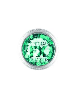 Groene Confetti Makeup voor vrouw