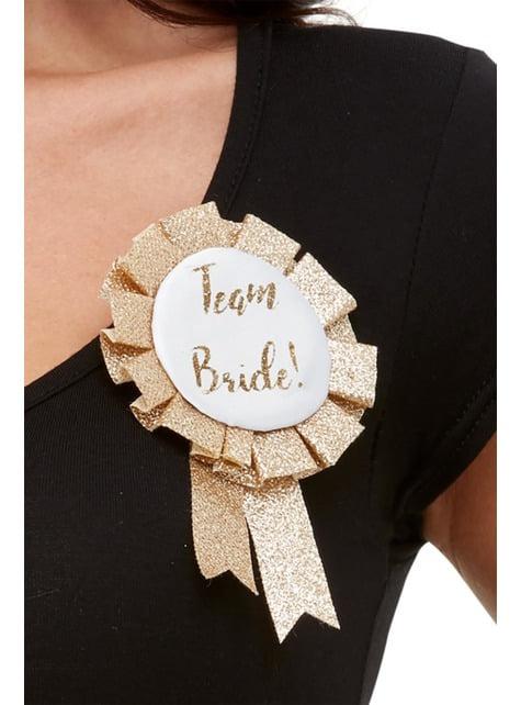 """Pásek """"Team Bride"""" růžovozlatý pro ženy"""