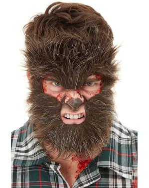 Harig weerwolfmasker voor volwassenen