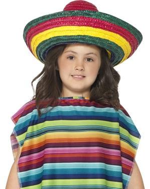Flerfärgad Mexikanarhatt för barn, Unisex