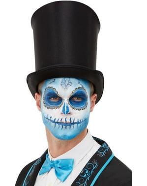 Conjunto de maquilhagem Catrina mexicana azul para adulto