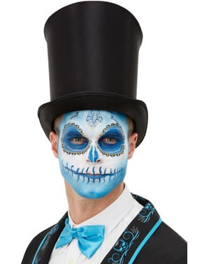 Set de maquillaje Catrina mejicana azul para adulto