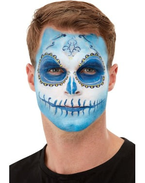 Mexican Catrina Makeup Kit for Men in Blue