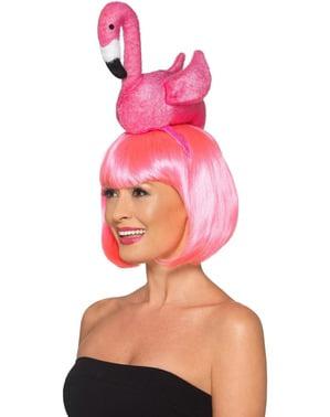 Flamingo tiara voor vrouw