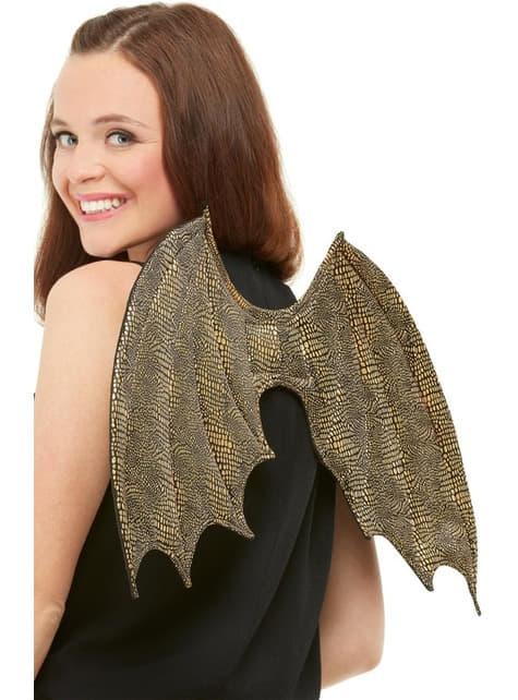 Andělská křídla zlatá pro dospělé