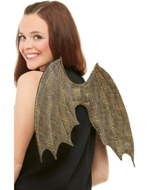Gold Angel Wings for Adults