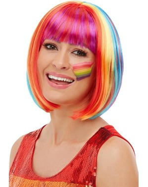 Rainbow Bob Wig for Women