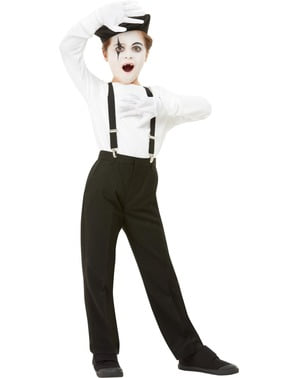 Mime Costume Set for Kids