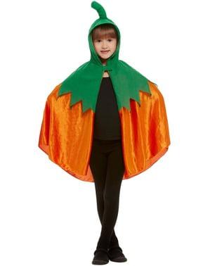 Pompoen cape voor kinderen