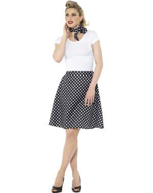 50s Polka Dot szoknya Női