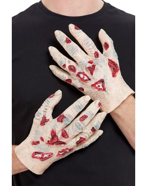 Manos de zombie de látex para hombre