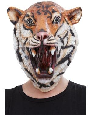 Máscara de Tigre de látex para adulto
