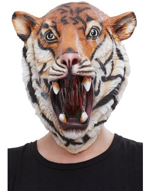 Tiger Latex Mask for Adults