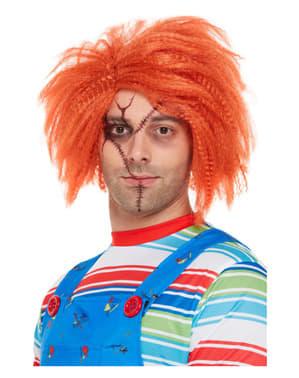 Peluca de Chucky, el muñeco diabólico para adulto