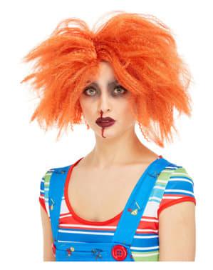 Perucă Chucky, păpușa diabolică pentru adult