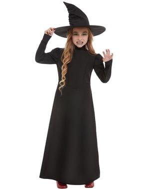Disfraz de bruja aterradora para niña