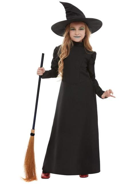 Disfraz de bruja aterradora para niña - niña