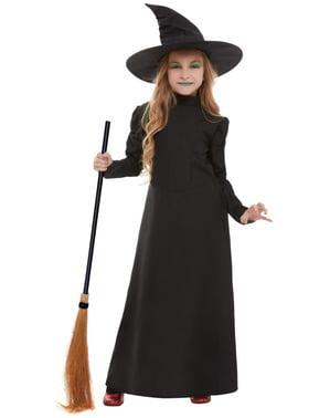 Costum de vrăjitoare înfricoșătoare pentru fată
