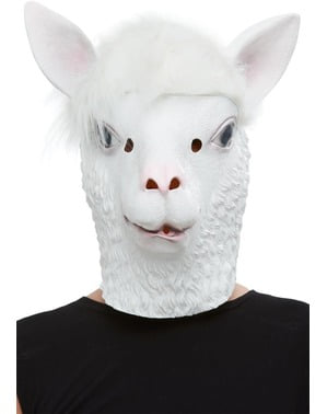 Lama latex masker voor volwassenen