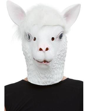 Lateksowa maska Lama dla dorosłych