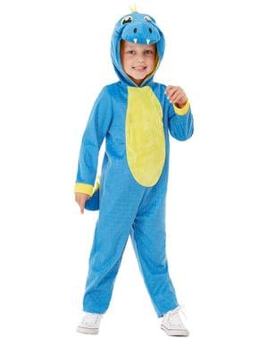 Disfraz de dinosaurio azul infantil