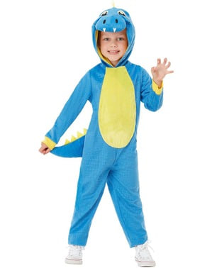 Disfarce de dinossauro azul infantil