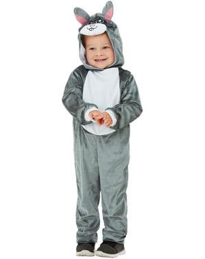 Hasen Kostüm grau für Jungen