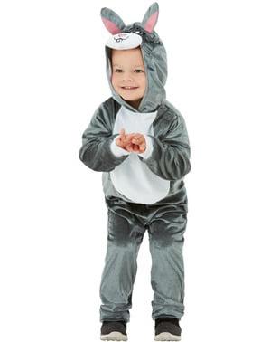 Kanin kostume til børn i grå