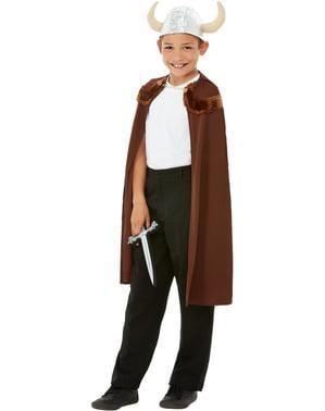 Disfraz de Vikingo marrón para niño
